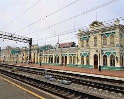 Иркутск. Железнодорожный вокзал.