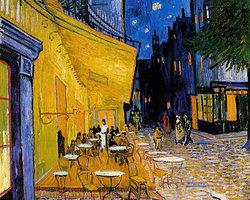 Терасса ночного кафе Place du Forum в Арле. Арль, сентябрь 1888.