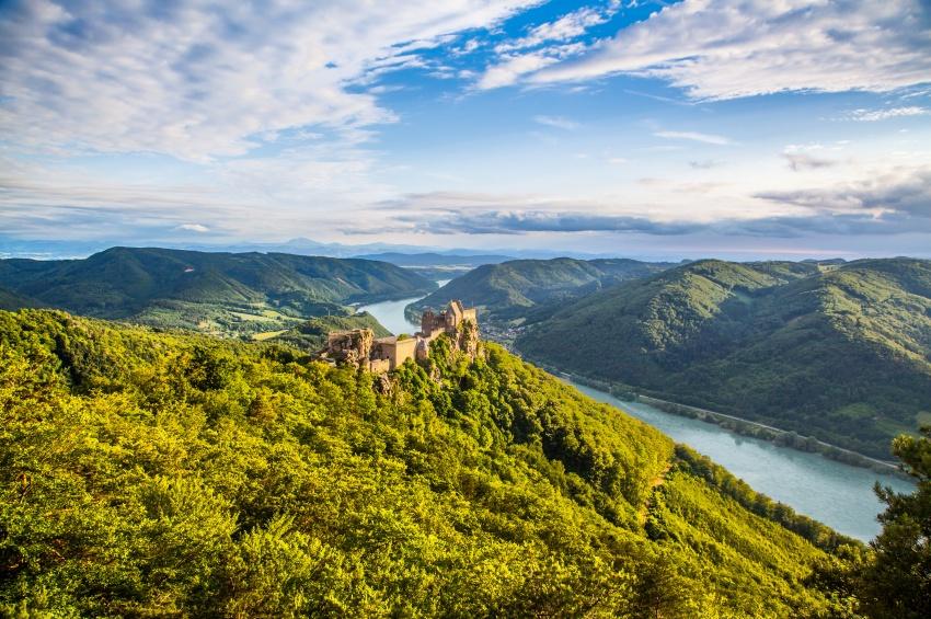 Замок Аггштайн на Дунае