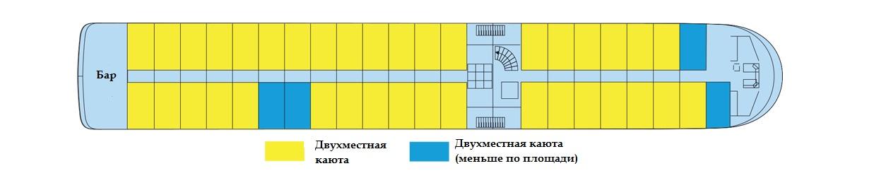 Верхняя палуба т/х VIVALDI