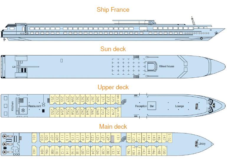 Схема теплохода FRANCE