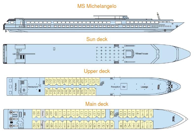 План теплохода Микеланджело
